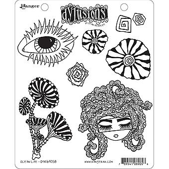 Dylusions By Dyan Reaveley - Cling Stamp Sets - Ocean Life