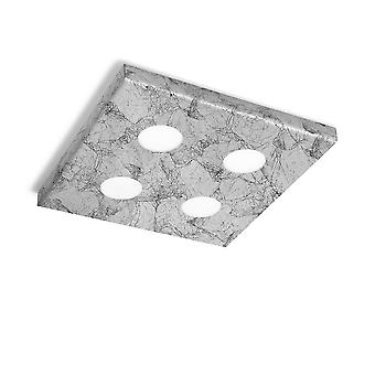 Opbouw plafondlamp - Vintage Silver Finish, 4x GX53
