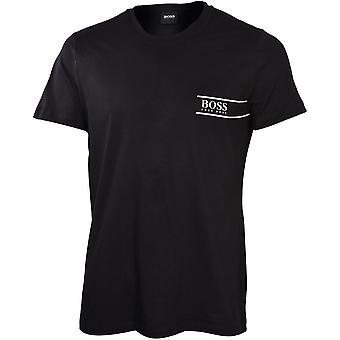 BOSS Luxe Cotton 24 Crew-Neck T-Shirt, Black/white