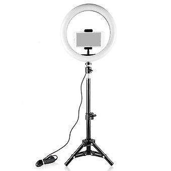 26cm/10inch Mini LED Video Ring Light Lamp Dimmable 3 Modes d'éclairage USB Powered