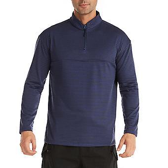 YANGFAN Men's Soft Solid Color Sweater Zip Up Top