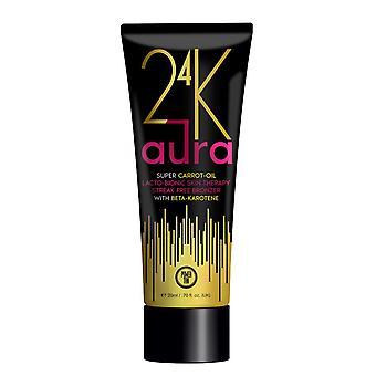 Power Tan 24K Aura Super Carrot Oil Tanning Bronzing Lotion Streak Free 250ml
