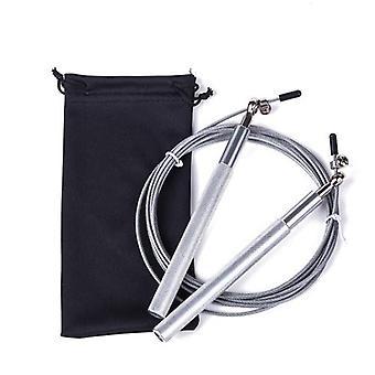 Crossfit Jump Rope Adjustable Skip Rope(silver)