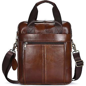 Gerui Genuine Leather Shoulder Bag for Men - Spacious Messenger Bag Cross Body Casual Daypack Small
