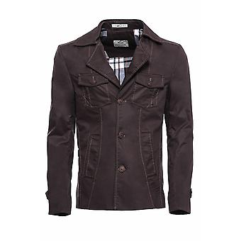4 Buttons brown coat