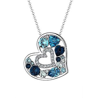 Elli Necklace with Women's Heart Pendant in Silver 925 with Swarovski Crystals, Brilliant Cut