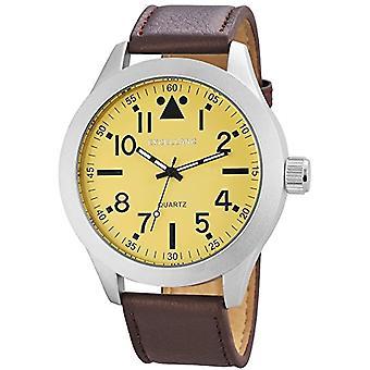 Excellanc 295027500171 - Reloj de pulsera para hombres, diferentes materiales, color: marrón