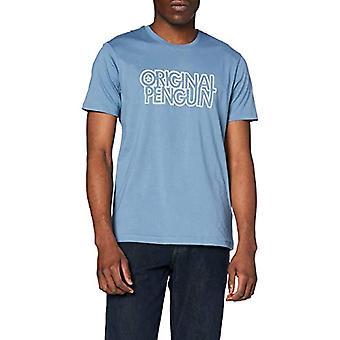 ORIGINAL PENGUIN Logo Block LINJÄR Tee, 443 Copen Blue, M Man