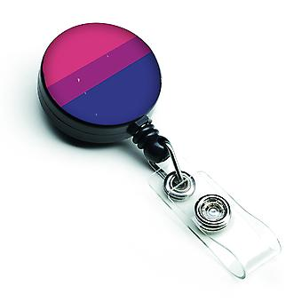 Carolines Treasures  CK8011BR Bisexual Pride Retractable Badge Reel