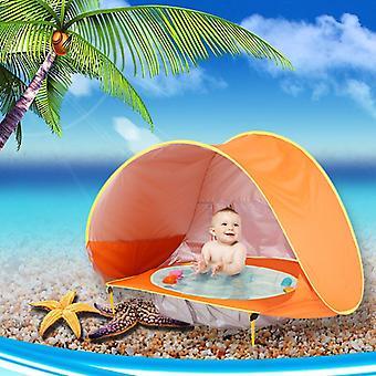 Baby Beach Telt Barn Vanntett Pop Up Sun Markise Telt UV-beskyttende Solseng Med Basseng Kid Utendørs Camping Sunshade Beach