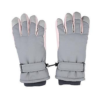 Grå skihandsker kvinder vinter plus fløjl fortykket varme sød udendørs ridning motorcykel vindtæt og kold x4214