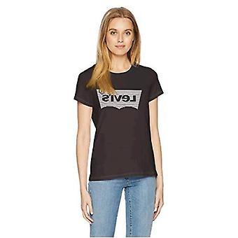 Levi ' s naisten ' s Slim Crew logo tee-paita, lurex Caviar, X-Small