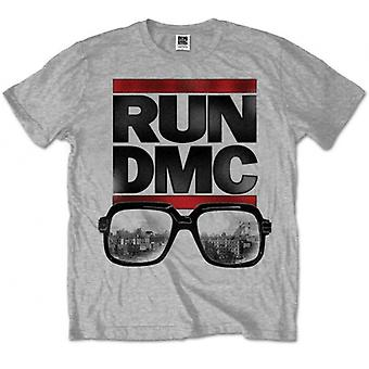Run DMC Glasses NYC Grey Mens T Shirt: Medium