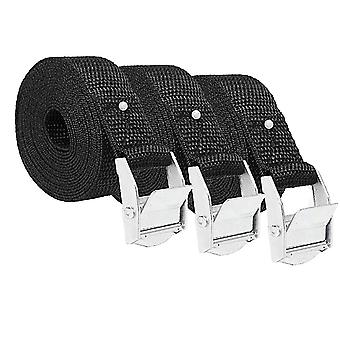 3pcs Cargo Bondage Straps Tie Down Strap Multi-use Thickened Band Pressing Buckle Belt Suitcase Safety Strap (2.5x500cm)