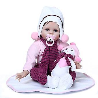 55Cm نابضبالحياة بيبي دمية تولد من جديد دمية الطفل دمية اليدالشعر مرجح لينة الجسم الوليد هدية عيد ميلاد الطفل