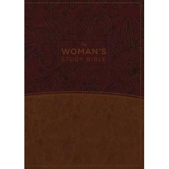 The NKJV Womans Study Bible Leathersoft BrownBurgundy Red Letter FullColor Edition by General editor Dorothy Kelley Patterson & General editor Rhonda Kelley
