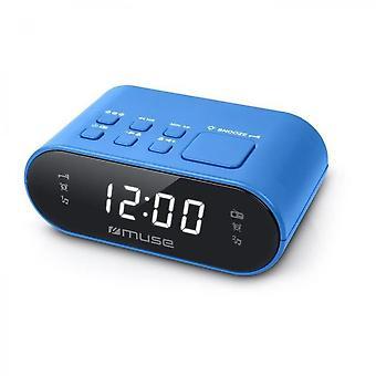 Muse M-10 Bl Alarm Clock With Radio