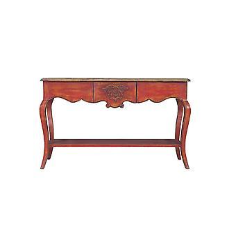 Hieno aasialainen konsolipöytä punainen W140xD45xH85cm
