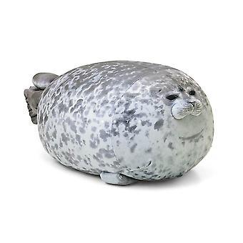 Chubby blob seal pillow plush animal toy stuffed seal plushie cotton cute pillow gray