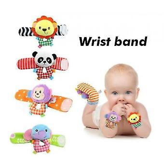 Soft Baby Socks Toy Rattle And Foot Guard (funny Butterflies And Ladybugs)(S4)