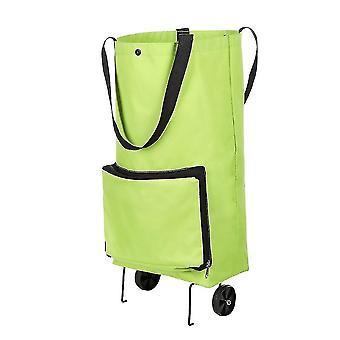Přenosný vozík taška skládací starší supermarket vozík ručně tažené nákupní kola tašky