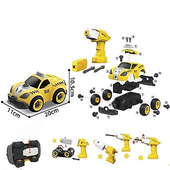 Brinquedo de táxi de controle remoto destacável para crianças