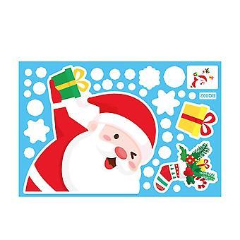 Kerst raamstickers, santa claus xmas sneeuwvlok raam stickers voor windows glas kantoor home kerk klaslokaal