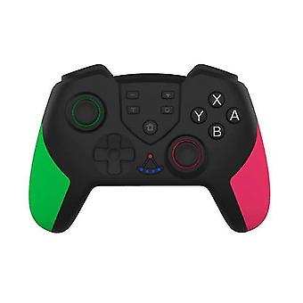 الاهتزاز الجديد جيروسكوب عصا التحكم اللاسلكية لNS التبديل PRO وحدة تحكم لعبة قابلة للشحن (الأخضر والوردي)