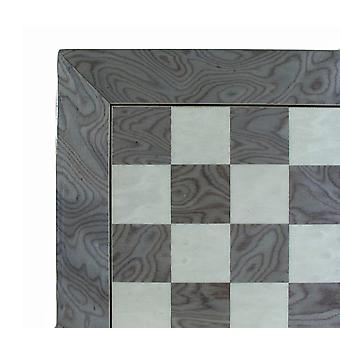 17 Inch Black & Madrona Burlwood Glossy Chess Board 1 3/4 Inch Squares