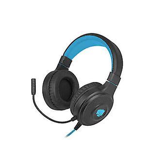 Headphones with Microphone Fury Warhawk Black Blue