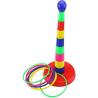 """18"""" Colorful Plastic Sport Ring Toss Game Set For Kids"""