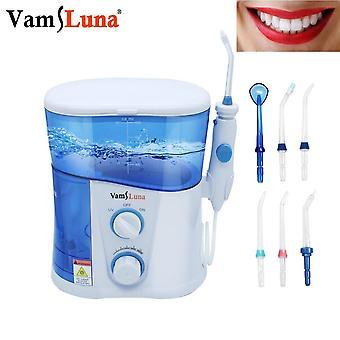 Irrigatore orale dentale per irrigatore orale da 1000 ml con 7 punte a getto multifunzionali per la famiglia