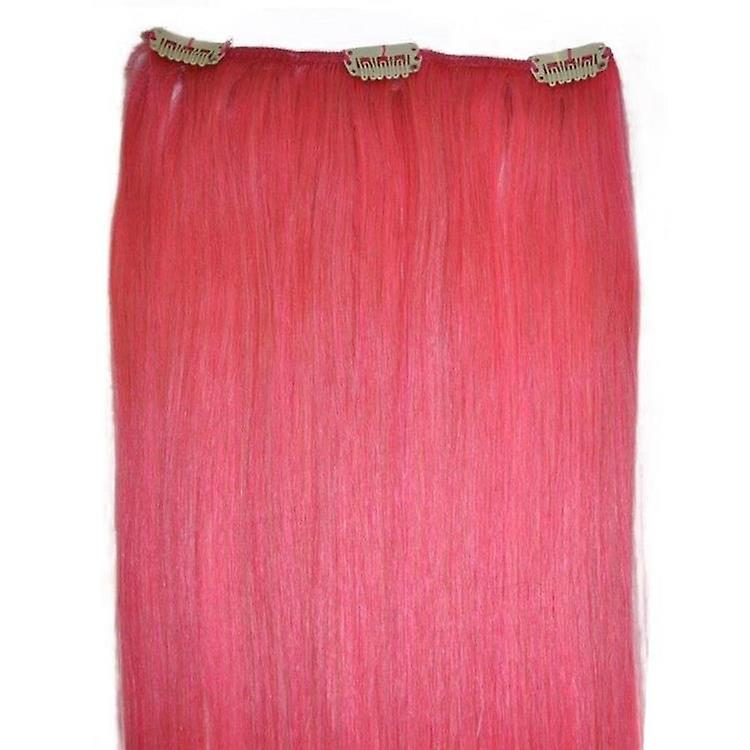Pink - Clip in Hair Piece - 18 inch