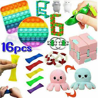 16pack Toys Set Sensory Tools Bundle Stress Relief Hand Kids Toys