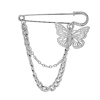 Hip Hop Trend Butterfly Chain Proto Style Suit Accessory Pin