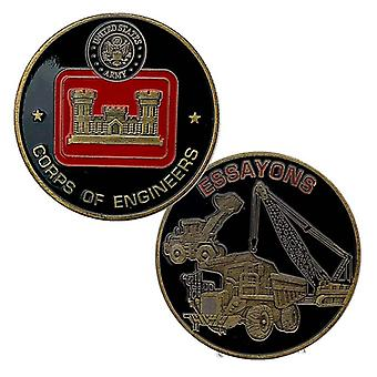 Goldmünze U.s. Army Corps Of Engineers Vergoldete Reliefmedaille Sammlung Münze Goldmünze Münze Gedenkmünze