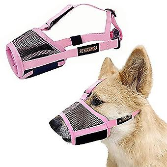 Phanindra Dog Muzzle Soft Muzzle Anti-biting Barking Secure  Omfortable Breathable Prevent Falling Off Pets Muzzle For Small Medium Large Dogs (small,