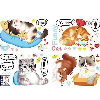 Simpatici gatti adesivi da parete Decalcomanie Home Sfondo Pasta decorativa