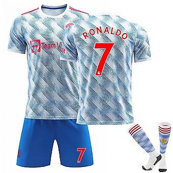 クリスティアーノ・ロナウド#7 Cr7ジャージー2021-2022シーズン男子サッカーTシャツジャージーセットウェルカムロナウドバック