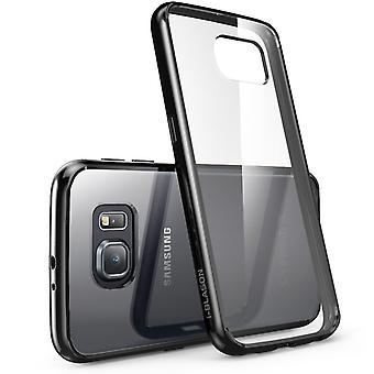 i-Blason Samsung Galaxy S6 caso - caso claro de Halo - Clear/Black