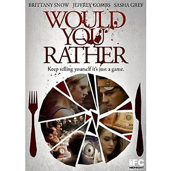 Would You Rather [DVD] USA import