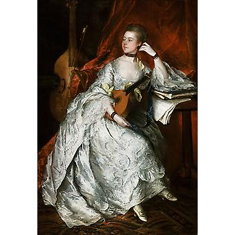 Thomas Gainsborough - Ann Ford Poster Print Giclee