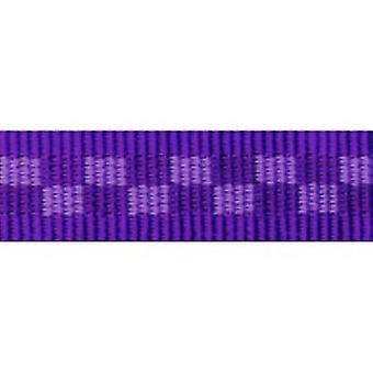 Tuff Lock Halsbänder mittlere violette Checker