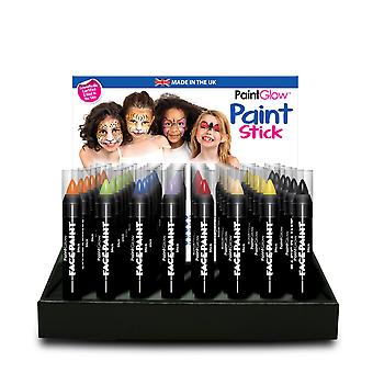 PaintGlow Face Paint Stick Party Kinderschminken 32 verschiedene Farben. Made in UK 3g