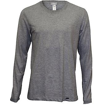 Hanro Living Jersey Long-Sleeve T-Shirt, Grey Melange