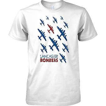 Lancaster bommenwerpers Pop Art Design-WW2 Bomber Command-mens T shirt