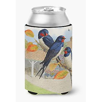 Carolines Treasures  ASAD0694CC Swallows by Sarah Adams Can or Bottle Hugger