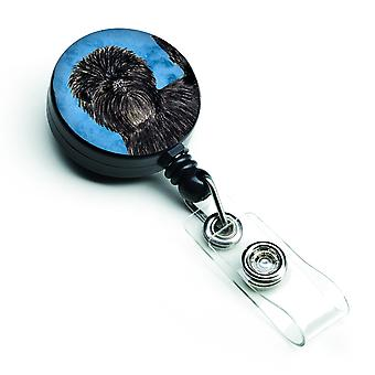 Affenpinscher  Retractable Badge Reel or ID Holder with Clip SS4787