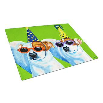 Party Animals Jack Russell Terriers Glass Cutting Board Large