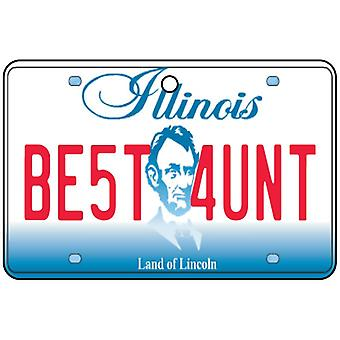 Illinois - Best Aunt License Plate Car Air Freshener